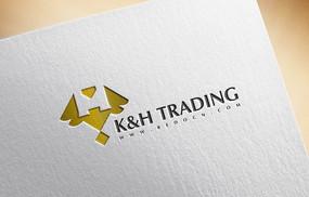 金色经典K&H贸易logo