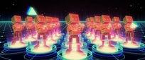 led舞蹈歌曲节奏背景视频