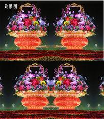 天安门广场花篮视频背景