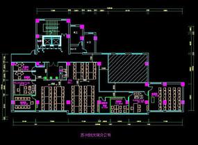 职场办公设计cad平面办公室设计办公室空间布局