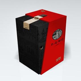 白酒工表盒包装设计 PSD