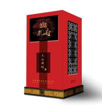 白酒红色包装盒