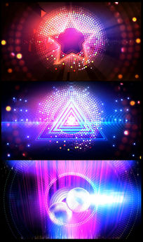 炫酷五角星灯光秀LED背景视频素材