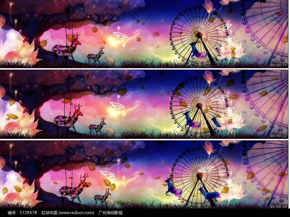 唯美梦幻童话摩天轮视频图片