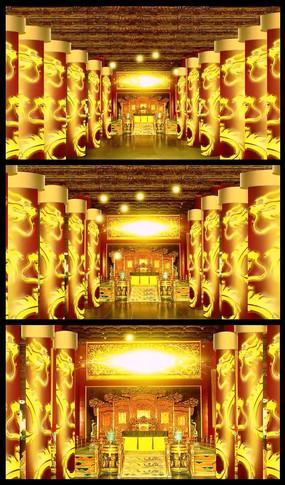 大气皇宫龙椅舞台背景视频素材