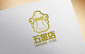 金色大气老奶奶五金店logo