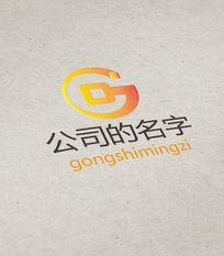 金色时尚G字母金融公司logo