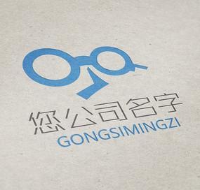 卡通创意G字母眼睛logo