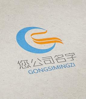 蓝色前卫大气G字母商务logo