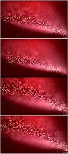 粒子特效红色喜庆浪漫高清循环动态背景视频
