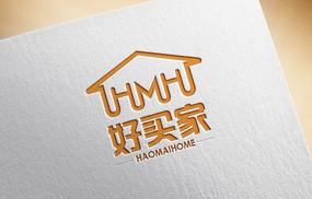 橘色简约租房logo
