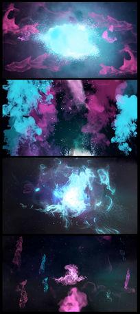 通用震撼大气彩色烟雾粒子光效视频