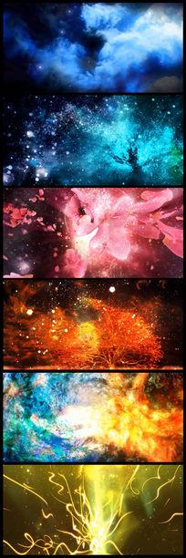 唯美粒子星空舞台背景视频