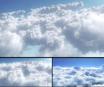 3D模拟高空云层视频素材