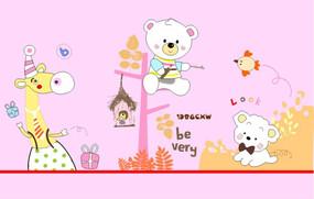 动物卡通装饰图案