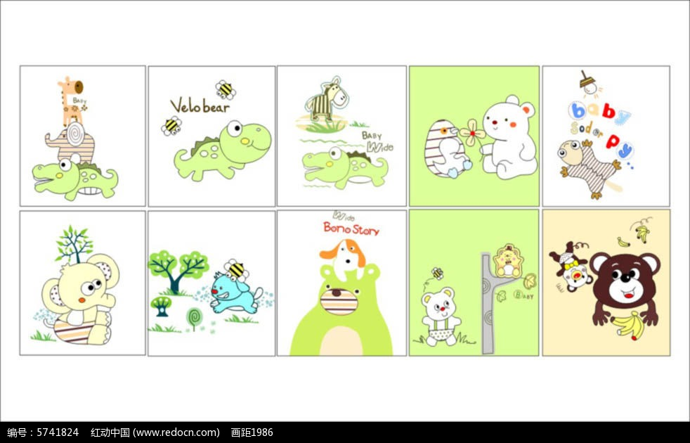 儿童卡通印花图案图片