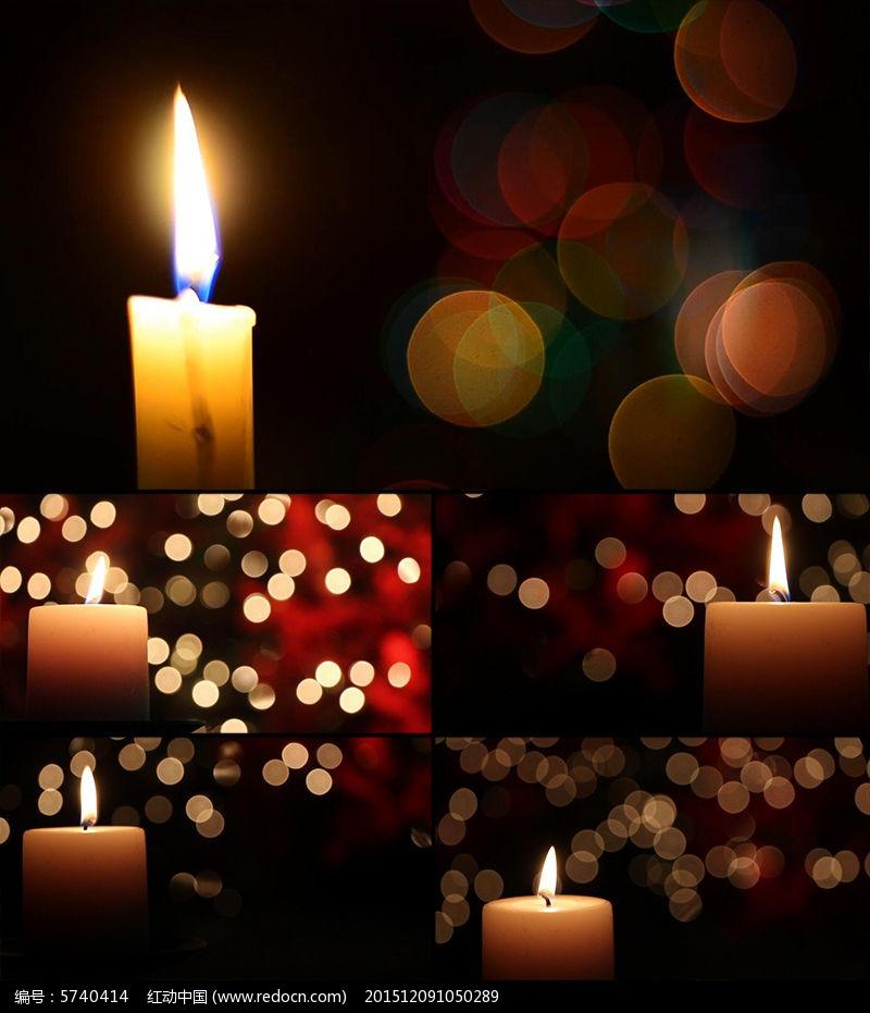感恩祝福蜡烛背景视频素材图片