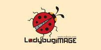 红色瓢虫爬行LOGO