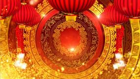 猴年春晚民族花纹视频素材