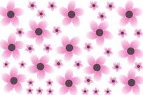 花朵背景装饰画
