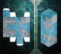 灰蓝墙纹设计包装盒