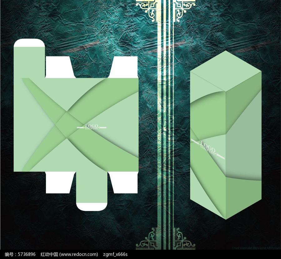 交叉设计拼色包装盒模板ai素材下载