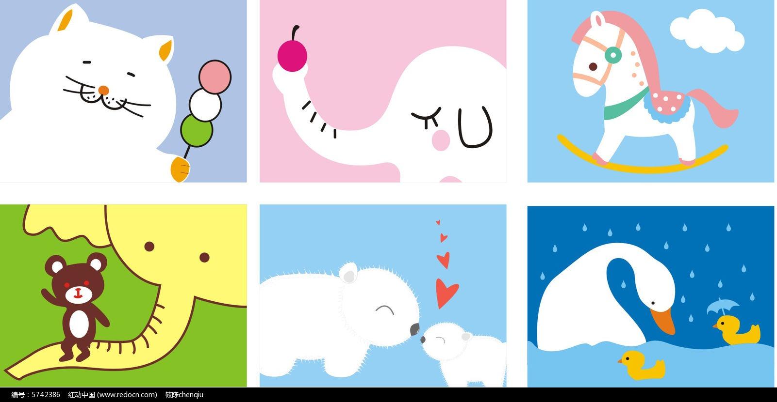 可爱卡通本子CDR素材下载_动物插画设计图片