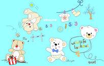可爱熊仔插图