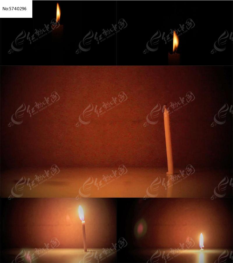 蜡烛燃烧过程视频mov素材下载