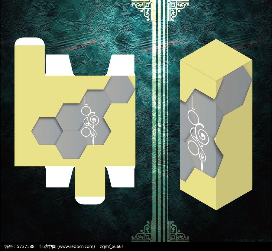 六边形设计科技感包装盒图片
