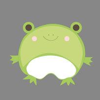 绿色可爱卡通小青蛙