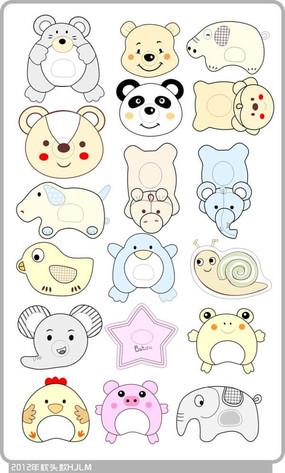 原创设计稿 卡通图片/插画 印花图案 婴童印花卡通动物图案  婴童卡通