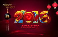 2016猴年大吉迎新年背景
