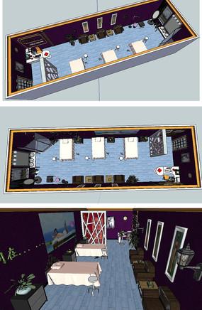 SPA展厅室内草图大师SU模型