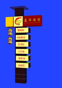 中式地产商业导视牌