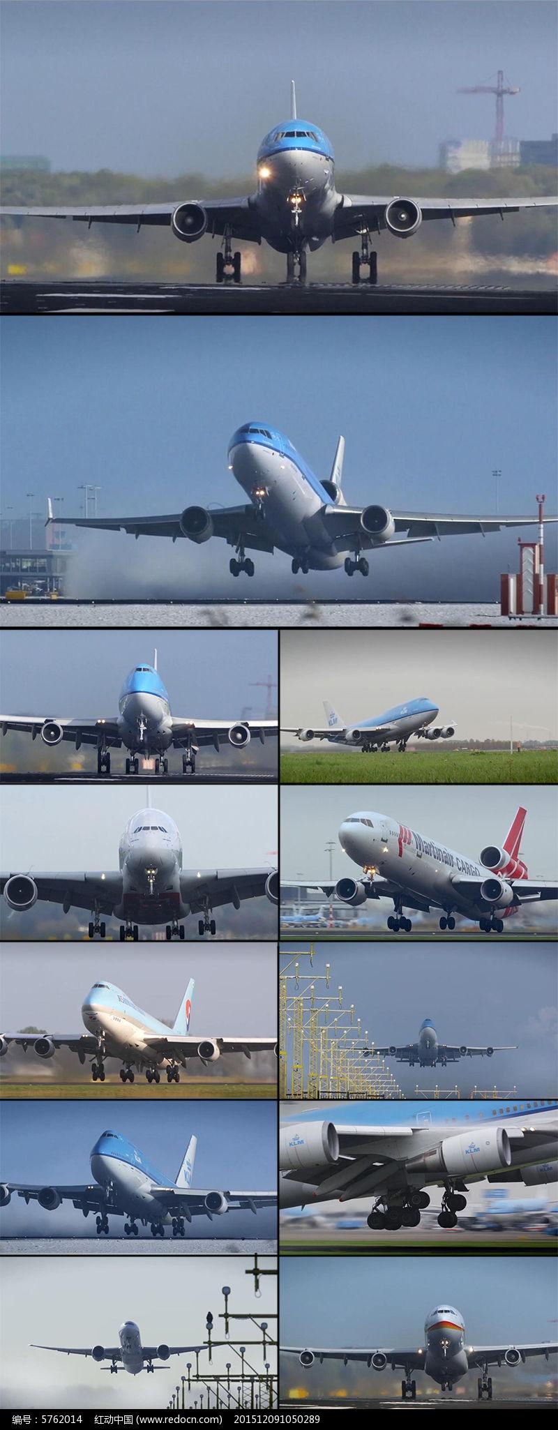 多架飞机起飞时姿态