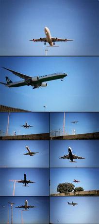 飞机掠过头顶