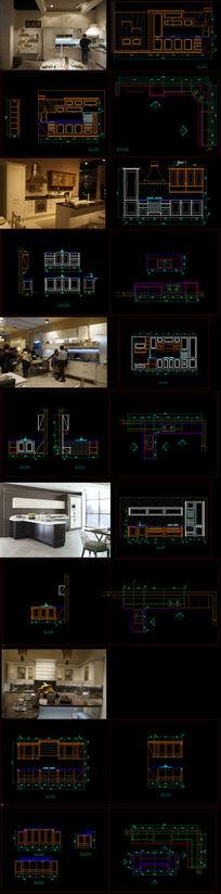家具厂欧式家具柜CAD设计施工图纸