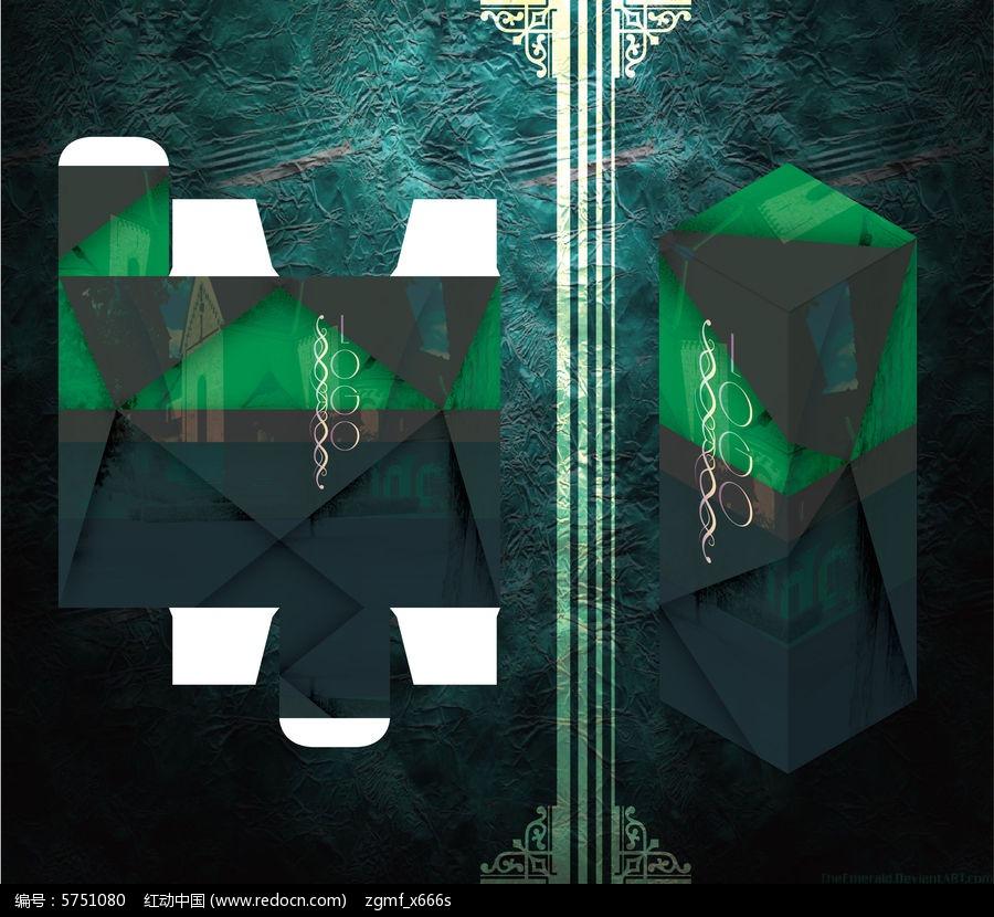 几何层次感高端包装盒图片