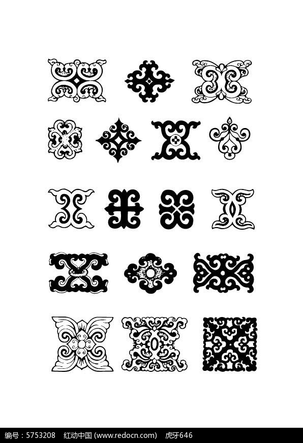 蒙古族传统花纹系列图片