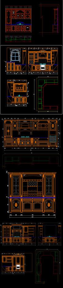 全套精品中式欧式整体实木橱柜图库