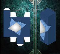 深蓝色商务礼品包装盒
