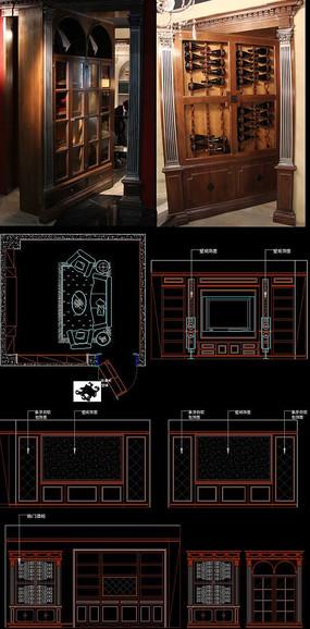 实木整装影音室护墙板暗室旋转门