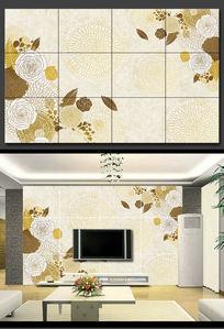 时尚花朵背景墙