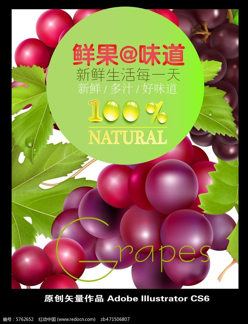 水果拼盘手绘海报