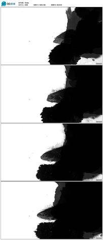水墨晕染视频素材