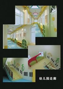 幼儿园走廊3d模型 max