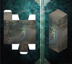 包装盒模板 PSD