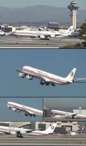 中国东方航空飞机机场起飞