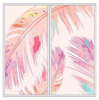 彩色羽毛移门